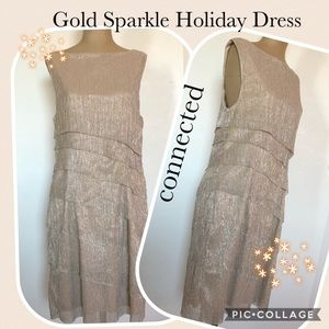 💕5 FOR $25 SALE Gold Sparkle Holiday Dress